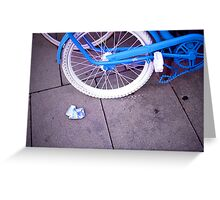 Blue Bike and Cigarette Pack Greeting Card