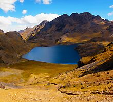 aurora lake in the lares valley by nicole makarenco