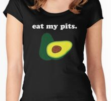 eat my pits. (avocado) <white text> Women's Fitted Scoop T-Shirt