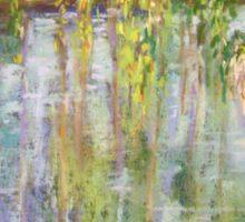 Willows, Lake Burley Giffin Sticker
