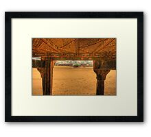 Where The Boat Came In Framed Print