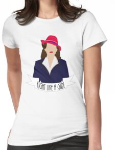 """P. Carter: """"Fight like a Girl."""" Womens Fitted T-Shirt"""