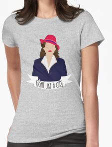 "P. Carter: ""Fight like a Girl."" Womens Fitted T-Shirt"