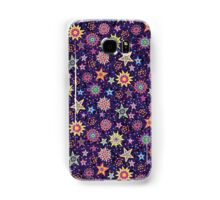 Folk Art Starry Sky psychodelic midnight Samsung Galaxy Case/Skin