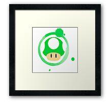 1-Up Mushroom Framed Print