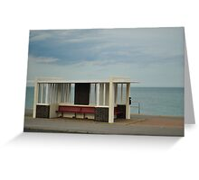 Bus shelter Greeting Card