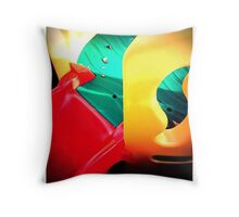 Multi coloured slide Throw Pillow
