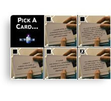 Doctor Who Pick a Card Canvas Print