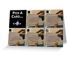 Doctor Who Pick a Card Greeting Card