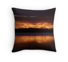 Burn For You (20 Exposure HDR Panorama) -Narrabeen Lakes, Sydney - The HDR Experience Throw Pillow