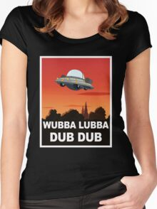 I want to Wubba Lubba Dub Dub Women's Fitted Scoop T-Shirt