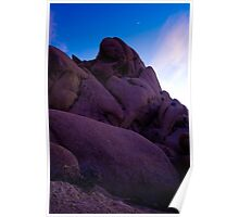 Monolith at Dusk, Joshua Tree Poster