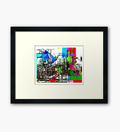 Building a City Framed Print