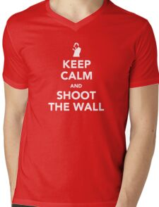 Keep Calm and Shoot The Wall Mens V-Neck T-Shirt