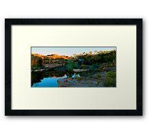 sun rising over manning gorge Framed Print
