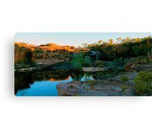 sun rising over manning gorge Canvas Print