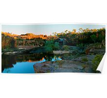 sun rising over manning gorge Poster