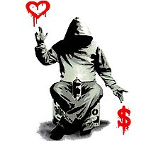 Love Over Money Photographic Print