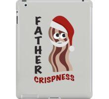 Father Crispness Cute and Funny Santa Bacon iPad Case/Skin