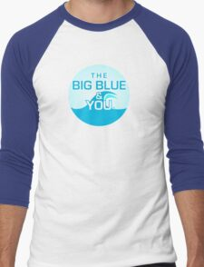 The Big Blue Logo Men's Baseball ¾ T-Shirt