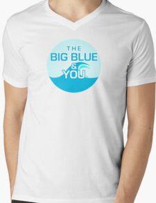 The Big Blue Logo Mens V-Neck T-Shirt