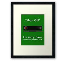 Kinect 9000 - Poster Framed Print