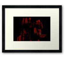 blood red bells Framed Print