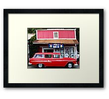Classic Car and Aoki's Shave Ice Framed Print