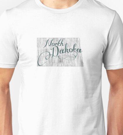 North Dakota State Typography Unisex T-Shirt