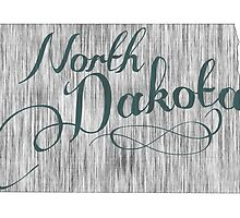 North Dakota State Typography by surgedesigns