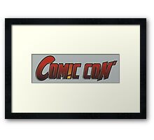 Comic Con - red  Framed Print