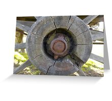 Centre of a Wagon Wheel Greeting Card