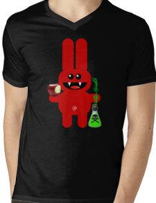 RABBIT 6 (With a little pec of poison!) Mens V-Neck T-Shirt