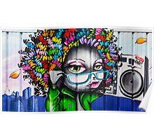 Afro Graffiti Boombox Poster