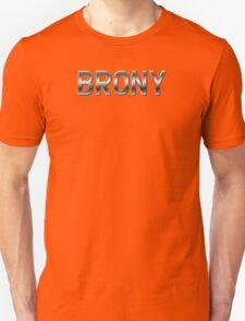 Brony - Metallic Text - Steel T-Shirt