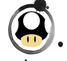 Black Super Mushroom by BradBailey