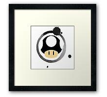 Black Super Mushroom Framed Print