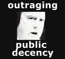 Outraging public decency by reflexio