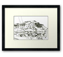 Ingleborough sketch Framed Print