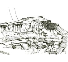 Ingleborough sketch Photographic Print