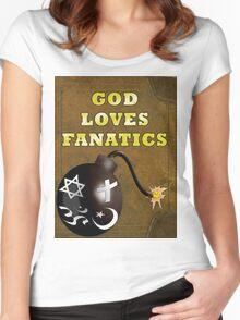 God Loves Fanatics Women's Fitted Scoop T-Shirt