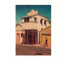 Walking the Dog - South Johnstone Art Print