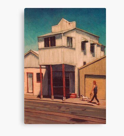 Walking the Dog - South Johnstone Canvas Print