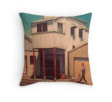 Walking the Dog - South Johnstone Throw Pillow