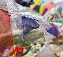 Buddhist prayer flags by idoavr