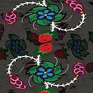 sky women floral pattern by mylittlenative