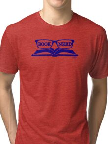 Book Nerd (Blue) Tri-blend T-Shirt