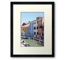 Tranquil Burano Framed Print