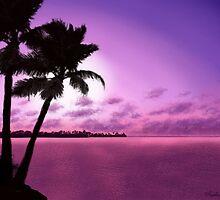 Tropical Sunset by SophiaDeLuna