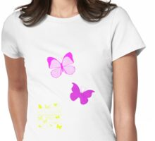Flutter like a Butterfly Womens Fitted T-Shirt